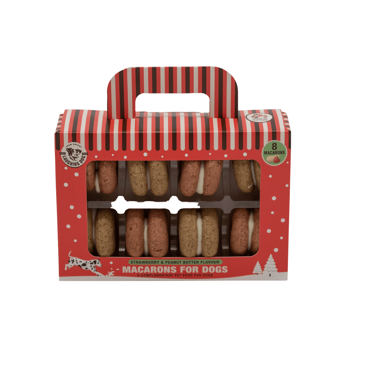 Christmas presents for dogs - macarons for dogs from Laughing Dog Food