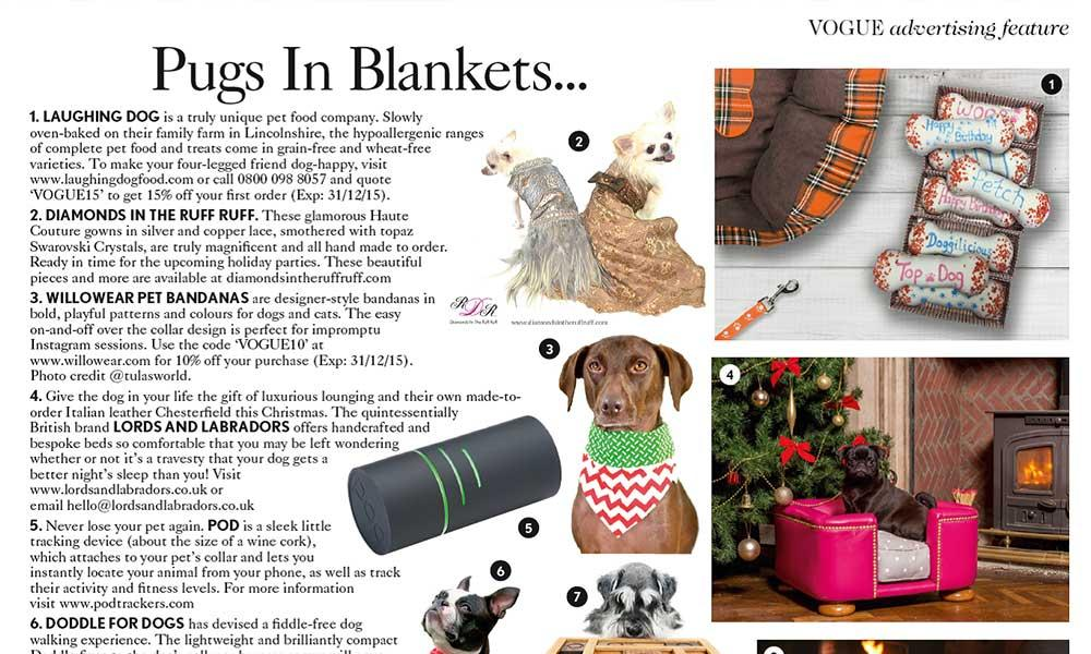 dogs in blankets   Laughing Dog Food