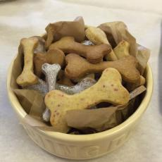 Homemade Peanut Butter Dog Treats Image   Laughing Dog Food
