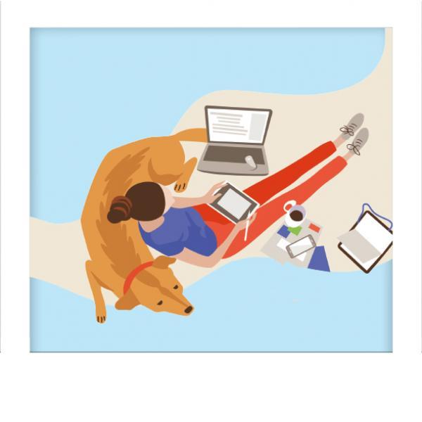Easing Back to Work Image   Laughing Dog Food