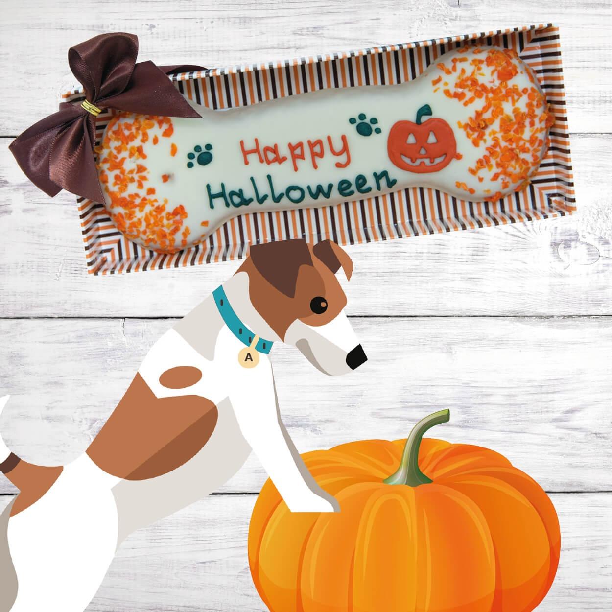 Halloween Biscuit Bone Image   Laughing Dog Food
