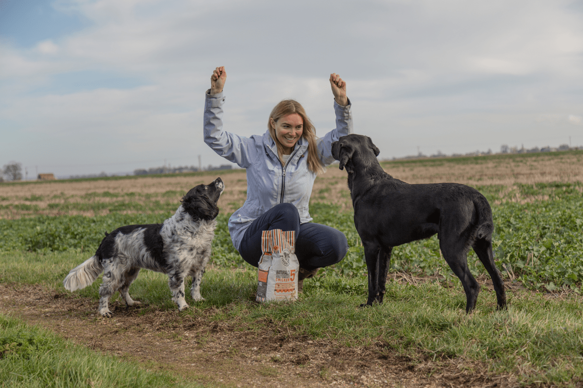 Are dogs good for mental health? Image | Laughing Dog Food