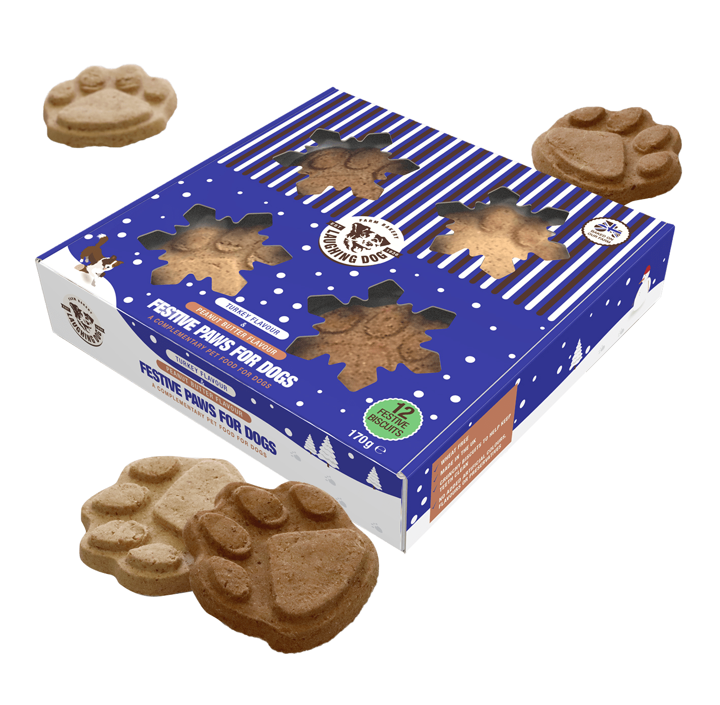 Christmas presents for dogs - Christmas dog gifts from Laughing Dog