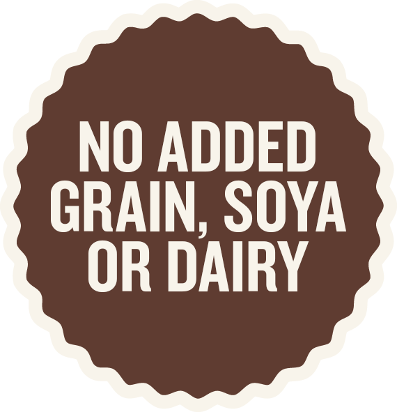 No added grain, soya or dairy - Laughing Dog Food
