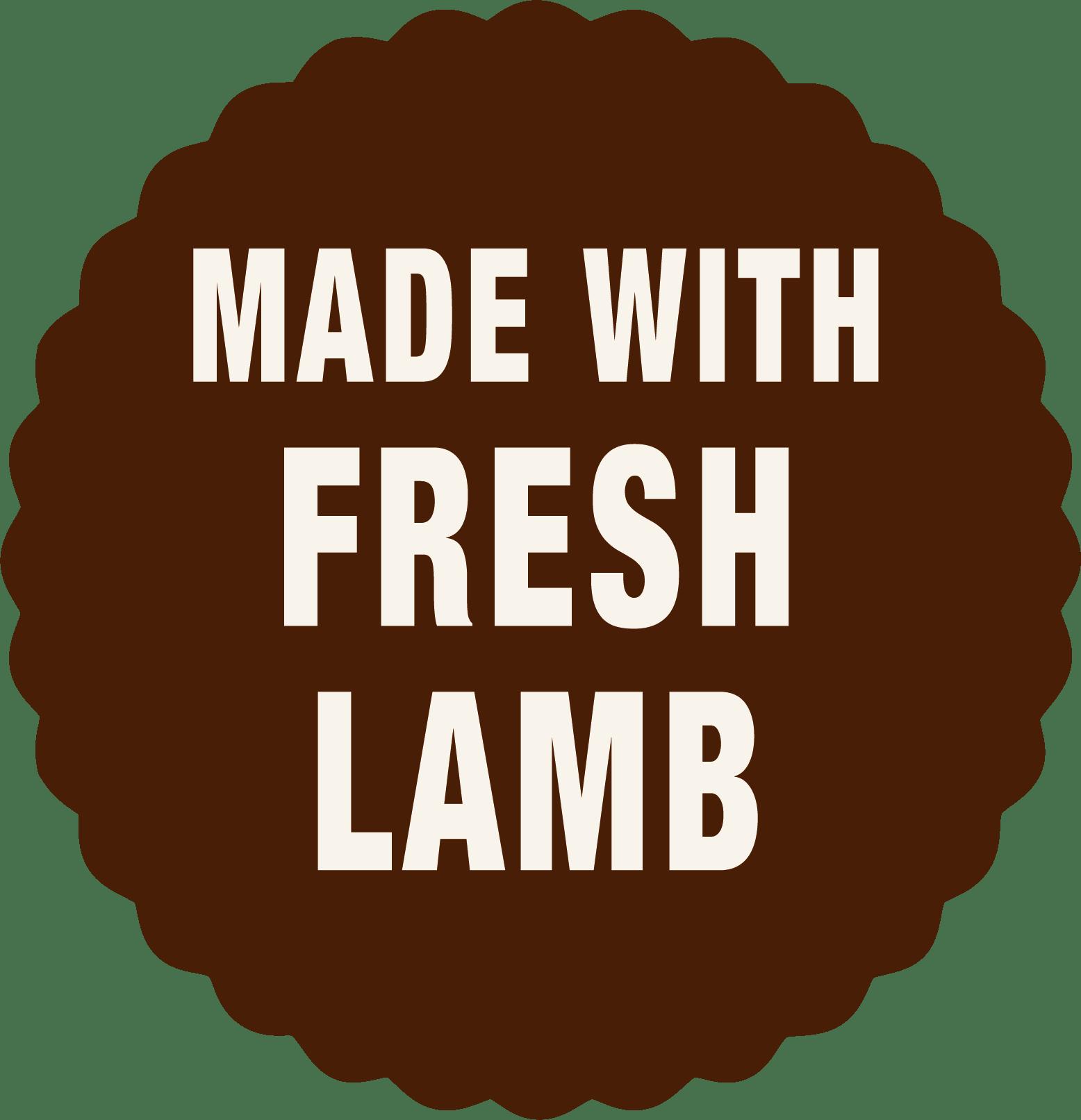 Made with fresh lamb dog food - Laughing Dog Food