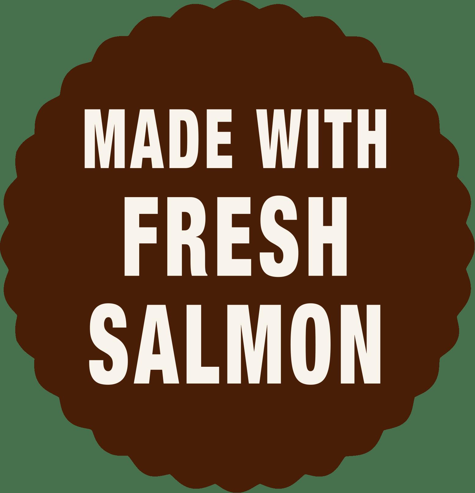 Made with fresh salmon dog food - Laughing Dog Food