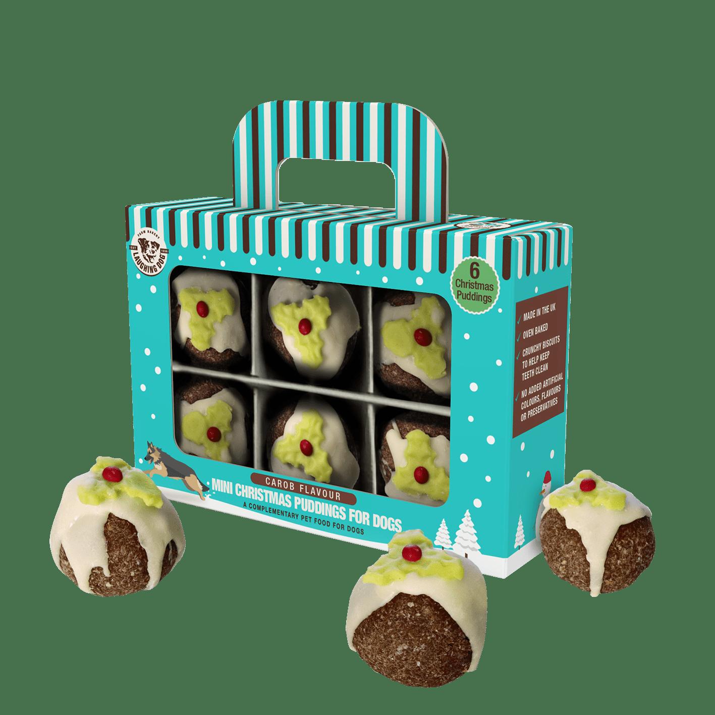 Christmas Puddings for Dogs with Carob Image   Laughing Dog Food