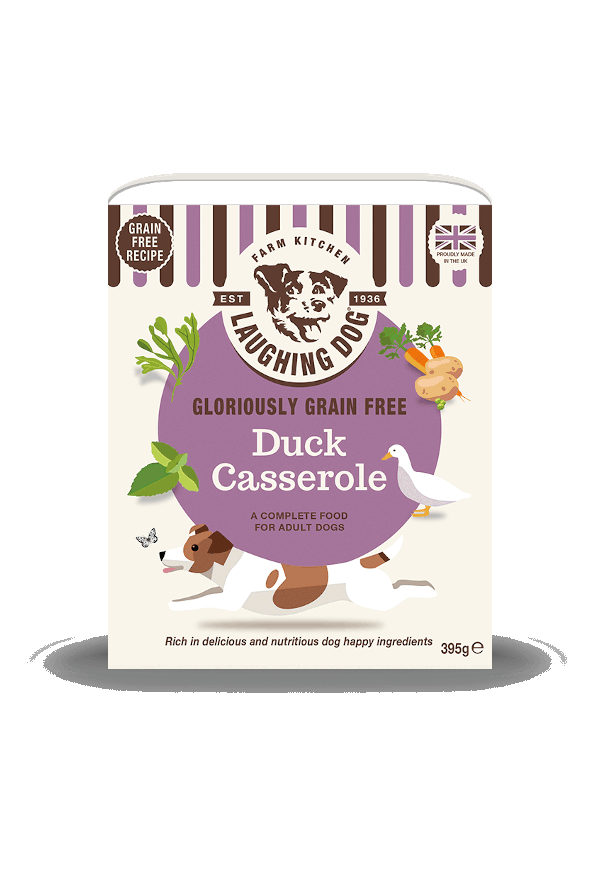 Gloriously Grain Free Duck Casserole (8 x 395g) Image | Laughing Dog Food