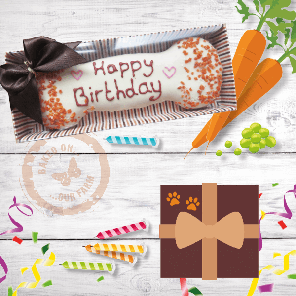 Happy Birthday Wheat Free Biscuit Bone Image   Laughing Dog Food