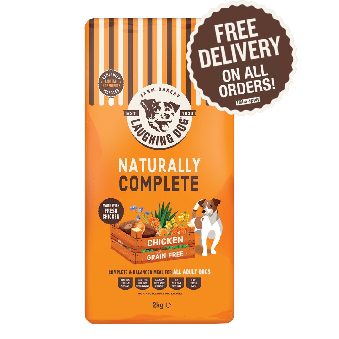 Grain Free Chicken Adult Complete Dog Food Image   Laughing Dog Food