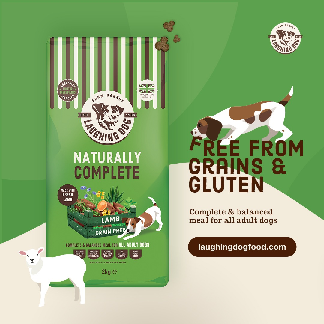 Grain Free Lamb Adult Complete Dog Food Image   Laughing Dog Food