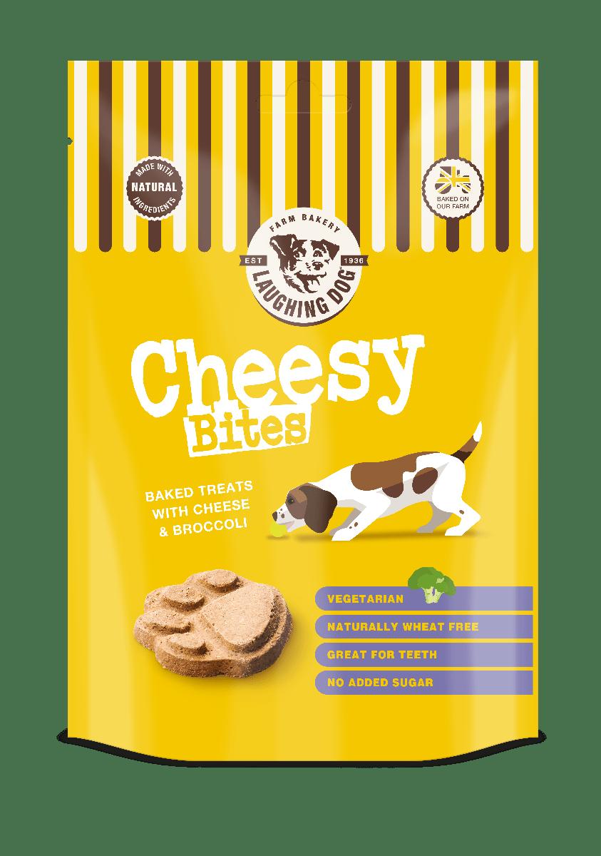 Cheesy Bites Dog Treats Image | Laughing Dog Food
