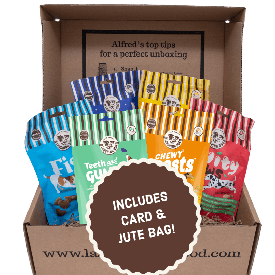 Dog Treats Hamper from Laughing Dog Food